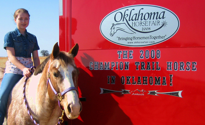 Sooner Appaloosa Horse Club :: The 2008 Champion Trail Horse